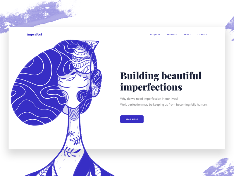 Imperfection web design 2